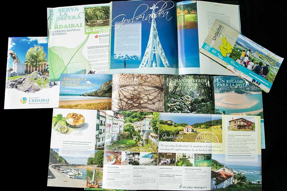 Nueva europa diseño folletos turisticos